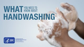 Opening text panel: CDC How to Wash Your Hands.