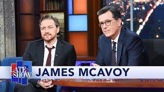 James McAvoy Plays Stephen Colberts Lightning Round