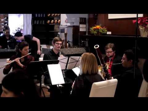 Performing Lady Gaga's 'Poker Face' as an ecore with the Symphony Number One woodwind quintet.