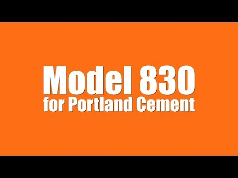 Model 830 Valve Bag Filler for Portland Cement