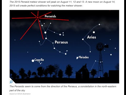 Live Sky Watch Perseids Meteor Shower August 12,13th 2015.