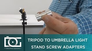 LIGHT STAND ADAPTER   Tripod Screw to Light Umbrella Holder Adapter   Tripod Adapter