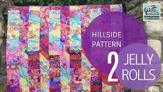 Hillside Quilt Pattern  Tutorial - Uses 2 Jelly Rolls!