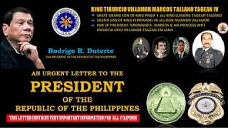 URGENT LETTER TO PRES.  DUTERTE FROM A GLOBAL FUNDER !!!