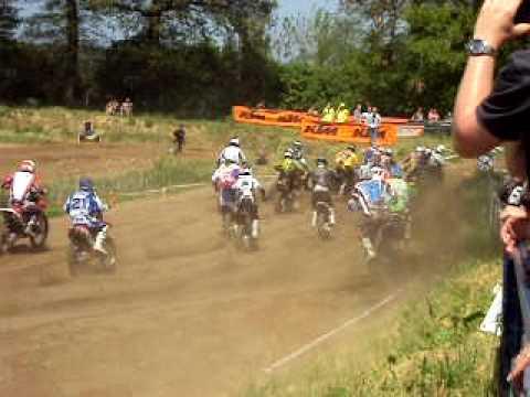Motorcross op circuit Lombok in Cuijk