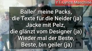 MERO   BALLER LOS (Official HQ Lyrics) (Text) | Lyrics Maschine