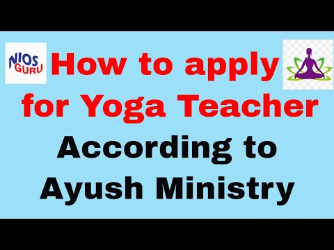 How to apply for Yoga Teacher Training according to Ayush Ministry ...