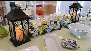 Luncheon Tablescape ~ Table Decor ~ Kirklands, Michaels,  Dollar Tree, and Dowan Serveware