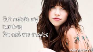 Carly Rae Jepsen - Call Me Maybe (with lyrics)