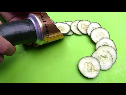 cómo hacer un cortador de pepinos casero  ! muy fácil !