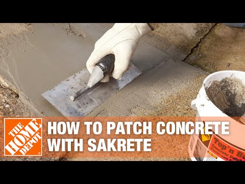 How to Patch Concrete with Sakrete Top n' Bond Concrete Patcher | The Home Depot