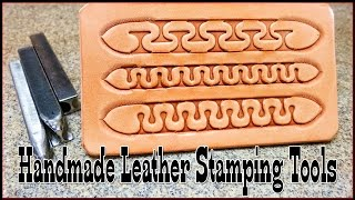 Handmade Leather Stamping Tools Serpentine Design Stamps