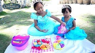 Disney Princess Cinderella  💖 Picnic Toys + Mermaid 💖 Mainan Anak Lets Play