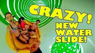 Crazy SlideWheel Water Slide! New 2018 Water Park Ride!