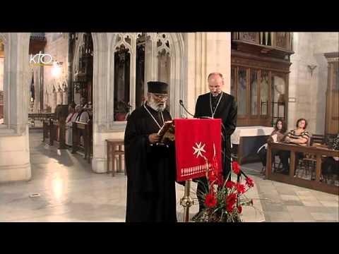 Prière en la Cathédrale anglicane de St George à Jérusalem