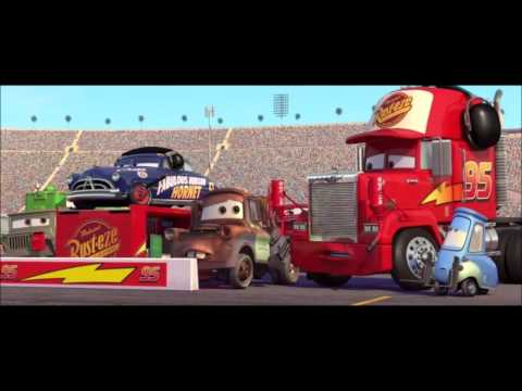 Cars last race awesome pit stop mcqueen