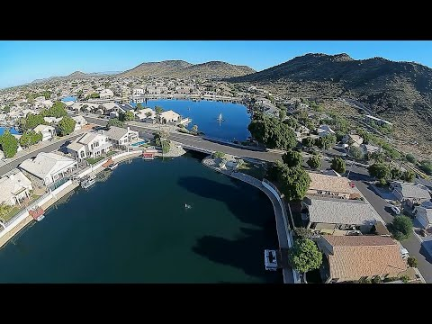 Geprc Cinerun HD3 DJI Air Unit - FPV Private Housing Lake & Desert Mountain Early Morning