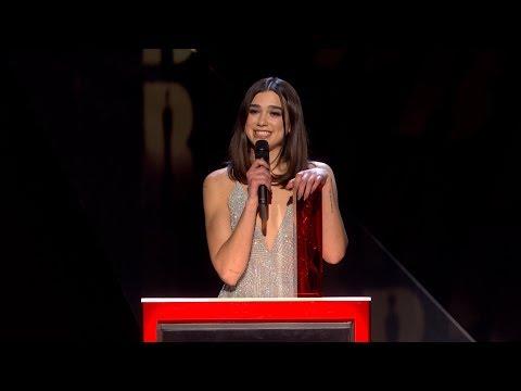 Dua Lipa wins British Female Solo Artist | The BRIT Awards 2018