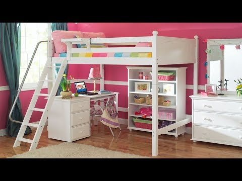 Bunk Bed With Desk Underneath | Loft Bunk Beds For Boys And Girls