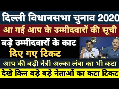 Delhi Election: AAP ने जारी की उम्मीदवारों की सूची 15 बड़े नेताओं का कटा टिकट