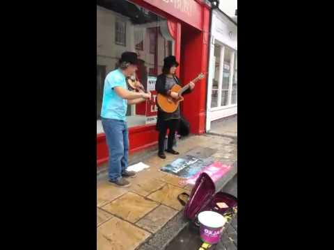 Busking for Oxjam Colchester June 2014