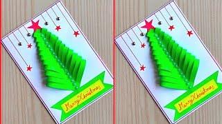 Christmas Greeting Card  / Christmas Greeting Card Making Ideas / Handmade Christmas Card Easy