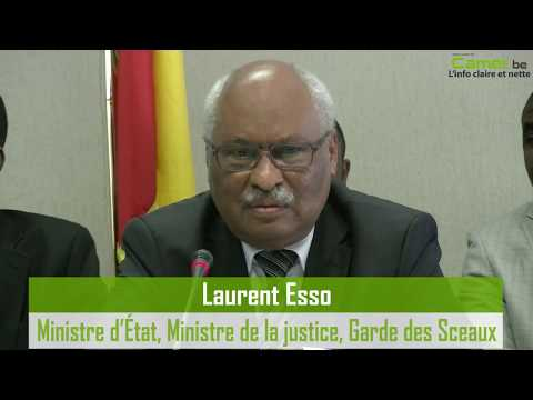 Laurent Esso conteste la notion de grève des avocats à Bruxelles