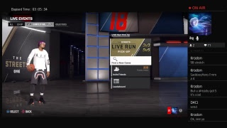 NBA LIVE 18 RUNNING 3s WITH RANDIES PULL UP