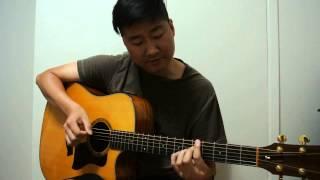 love on top. beyonce. guitar  tutorial by Bin Lee . key of D