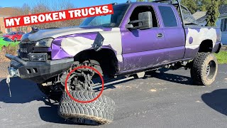 Driving My WRECKED OG Duramax When THIS Happened... FT. 2020 Raptor Damage Report! *BAD NEWS*