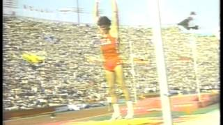 Olympics - 1984 Los Angeles - Track - Decathlon - Pole Vault - Tim Bright & Javelin - Hingsen