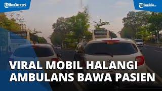 Viral Detik-detik Honda Brio Halangi Ambulans Bawa Pasien Kanker Payudara