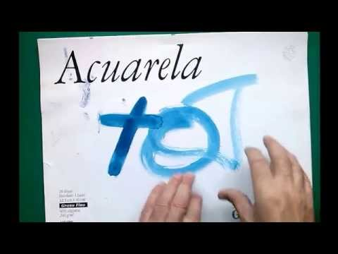 Acuarela: qué papel usar . watercolor paper