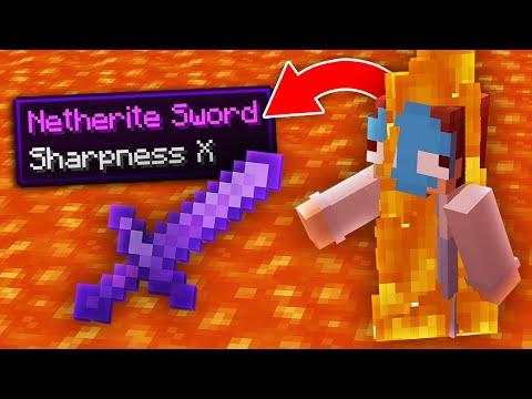 Minecraft, But Fire Drops OP Items...