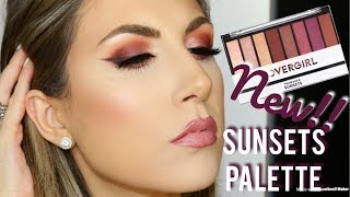 NEW! COVERGIRL SUNSETS PALETTE | REVIEW & DEMO