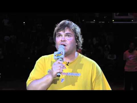 Jack Black gives what may be the best National Anthem before a WNBA game...or at any time at any place