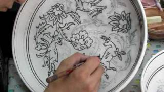 Hand Painting A Ceramic Bowl