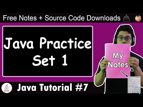 Java Tutorial: Chapter 1- Practice Set   Java Practice Problems With Solution