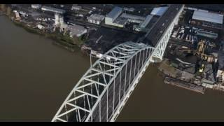 Drone flying over Beautiful Portland Oregon 4K