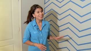 HOW TO PAINT A CHEVRON PATTERN ON A WALL: Step-by-step Tutorial For Painting An Accent Wall