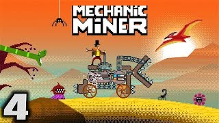 RETREAT RETREAT! - Let's Play Mechanic Miner Gameplay Part 4 (Vehicle Construction Survival)