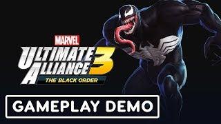 Marvel Ultimate Alliance 3 Gameplay (Venom, Deadpool, Wolverine) - IGN LIVE | E3 2019