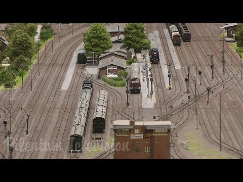 One of Germany's finest and most famous and superb model railway with steam trains in HO scale