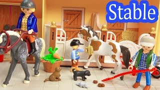 Playmobil Country Take Along Family Horse Stable Barn Farm with Playdoh Fun 5348 Toy Review Unboxing