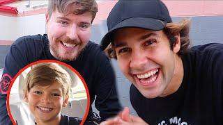 SURPRISING MY LITTLE BROTHER WITH MR.BEAST!!