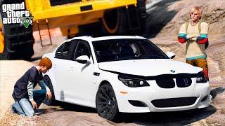 РЕАЛЬНАЯ ЖИЗНЬ В GTA 5 - ЗАКАЗНОЕ УБИЙСТВО МИЛЛИОНЕРА! РАЗДАВИЛИ BMW M5 E60 БЕЛАЗОМ! 🌊ВОТЕР