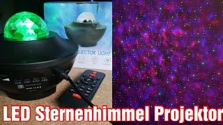 ✅ LED Sternehimmel mit Ozeanwellen   Nachtlicht und Party Projektor   Fernbedienung und Bluetooth