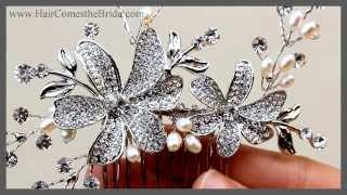 Flower Bridal Hair Comb ~ Bridal Hair Accessories And Jewelry By Hair Comes The Bride