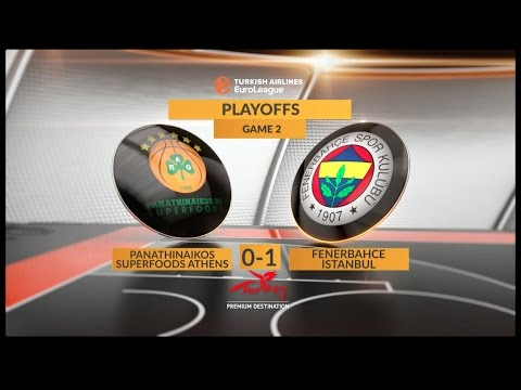 EuroLeague Highlights Playoffs 2: Panathinaikos Superfoods Athens 75-80 Fenerbahce Istanbul