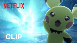 Pichu Evolves Into Pikachu ⚡ Pokémon Journeys: The Series   Netflix Futures